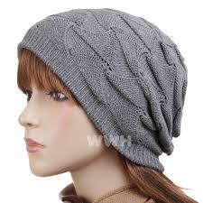 classic style crochet knit beanie cap hat gray be721g hats caps