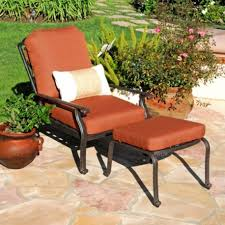 indoor patio furniture sets patio chair with hidden ottoman