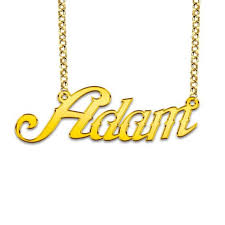 Gold Plated Name Necklace Goldplated Name Necklace Model Adam