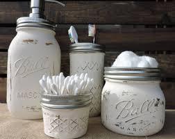 Vintage Bathroom Accessories Mason Jar Bathroom Set Mason Jar Decor Bathroom Decor