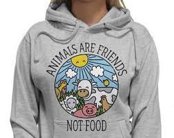 vegan hoodie etsy