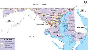 map of maryland with cities map of maryland state map of usa