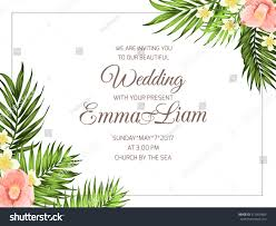 Church Invite Cards Template Tropical Wedding Party Invitation Card Template Stock Vector