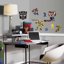 walltastic multi color abc learn with me wall stickers wt44920 multi color transformers autobots peel and stick wall decals