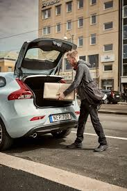 volvo sweden volvo cars pioneers two hour in car delivery service with swedish