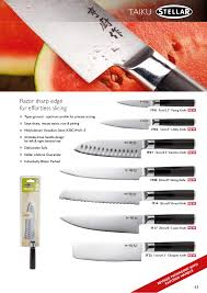 stellar kitchen knives stellar catalogue 2015
