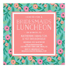 bridesmaid lunch invitations bridesmaid luncheon invitations announcements zazzle