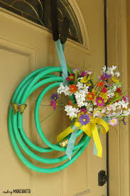 summer wreath garden hose wreath for summer manzanita
