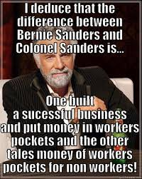 Colonel Sanders Memes - the difference between bernie and colonel sanders quickmeme