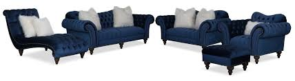 the brittney living room collection navy value city furniture