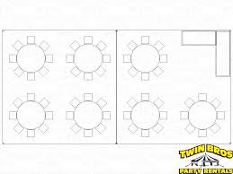 Round Table Seating Capacity 20x40 High Peak Frame Tent Layouts