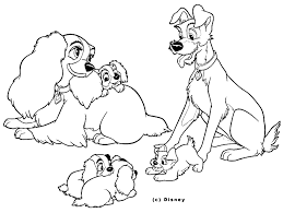 lady and the tramp coloring pages getcoloringpages com