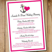 destination wedding itinerary wedding itinerary template from paintthedaydesigns on