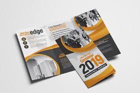 2 fold brochure template marketing seminar tri fold brochure template psd ai vector