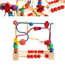 wooden bead toy table wooden bead maze toy colorful kids classic child beads educational