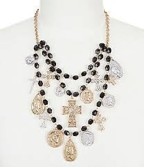 multi layered black necklace images Women 39 s layered multi strand necklaces dillards jpg