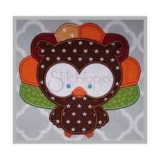fall owl turkey applique design stitchtopia