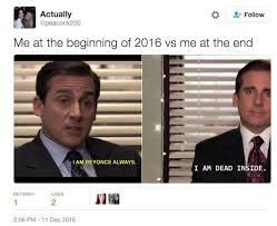 Me Meme - me at the beginning of 2016 vs me at the end meme