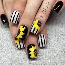 274 best nails images on pinterest sunflowers sunflower nails