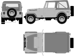 jeep vector car blueprints 1977 jeep cj7 renegade suv blueprint