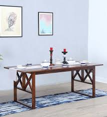 Buy Corian Online Buy Eight Seater Dining Table In Teak Wood U0026 Corian White Finish
