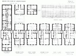 fashionable design ideas 12 british row house floor plans row