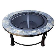 Uniflame Propane Fire Pit - uniflame slate mosaic propane fire pit table hudson 30 square