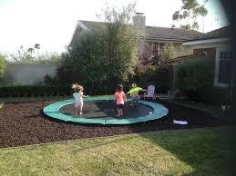 impressive diy inground trampoline youtube with diy inground