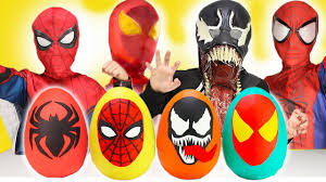 spiderman halloween costumes for kids new ultimate spiderman homecoming play doh surprise eggs opening