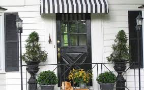 Awning Over Front Door Diy Striped Awning Hometalk