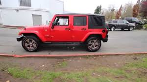 red jeep wrangler unlimited 2016 jeep wrangler unlimited sahara firecracker red clearcoat