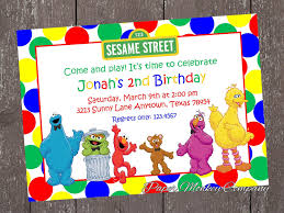 sesame street birthday invitations with free matching return