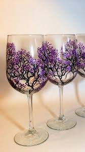Wine Glass Decorating Ideas Decorate Home With Glass Paintings Cherry Blossoms Glass And