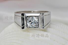 aliexpress buy 2ct brilliant simulate diamond men mens 1 carat diamond ring lovely new mens simulated diamond rings