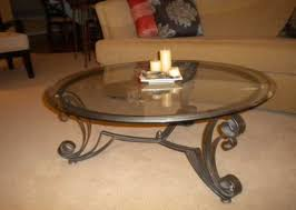 Black Glass Side Table Coffee Table Wrought Iron And Stone Coffee Table Wrought Iron