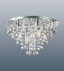 Chrome Ceiling Lights Uk Modern Flush Fitting 5 Bulb Chrome Ceiling Light Raindrop