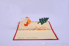 3d christmas greeting cards handmade custom retro castle christmas