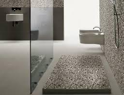 White Pebble Tiles Bathroom - pebble floor bathroom design ideas home design garden pebble