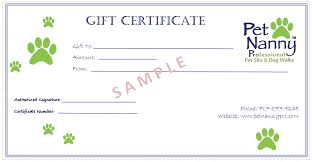 gift certificate template dog images certificate design and template