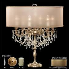 Brass And Crystal Table Lamps American Brass U0026 Crystal Table Lamps Homeclick