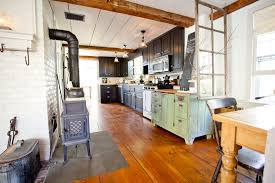 distressed wood cabinets kitchen farmhouse with barn board beige