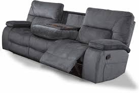 Contemporary Reclining Sofa Polo Contemporary Reclining Sofa With Console And Pillow Top Arms