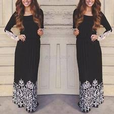 plus size long sleeve casual maxi dresses for women ebay