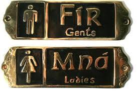 fir mna irish bathroom signs