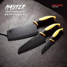 ceramic kitchen knives set inox master 3pcs knives set sharp black ceramic coated chef