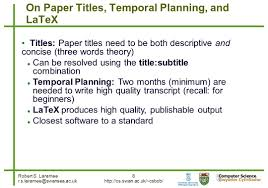 software to write research papers robert s laramee 1 how to write a visualization research paper a 8 robert