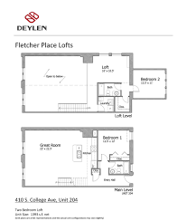 fletcher place lofts floor plans u2014 deylen realty