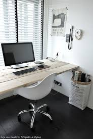 Black White Desk by Black White U0026 Wood My Workplace 2 White Wood Woods And Black