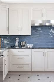 blue kitchen tile backsplash kitchen beautiful blue gray metro subway tile backsplash designs