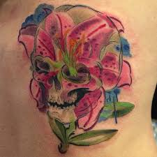 lily and skull tattoos pictures to pin on pinterest tattooskid